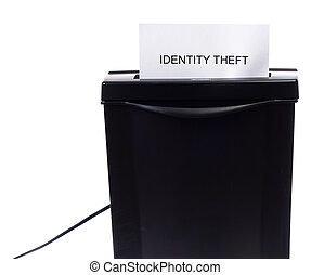 Concept image of identity theft being stolen or destroyed