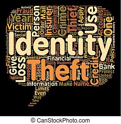 identity theft insurance text background wordcloud concept