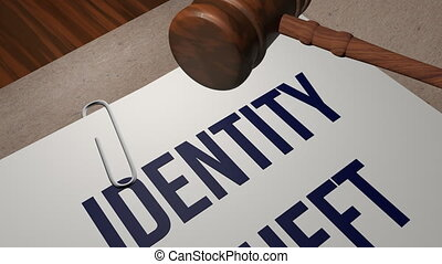 Identity theft legal concept shot clip