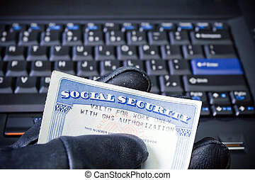 Identity theft on laptop computer - Social Security Card in...