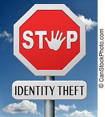 identity theft stop warning sign stealing ID online is an...