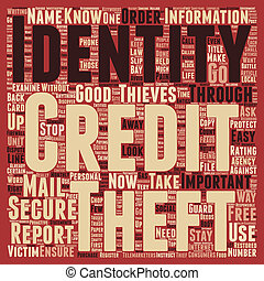 Identity Theft Stop It Now text background wordcloud concept