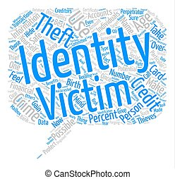 identity theft Text Background Word Cloud Concept