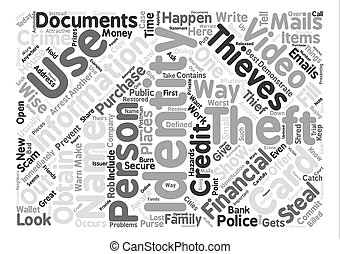 identity theft video Word Cloud Concept Text Background