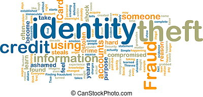 Identity theft wordcloud - Word cloud tags concept...