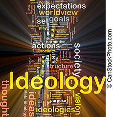 ideología, encendido, concepto, plano de fondo