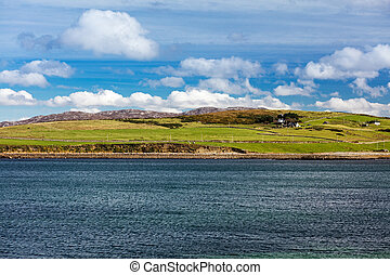 Idilic scenic near Connemara National Park, Co. Galway,...