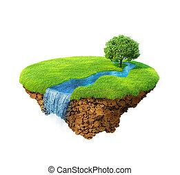 idilliaco, naturale, paesaggio