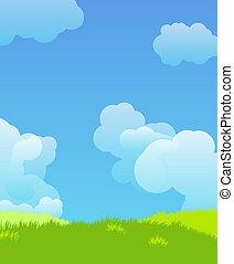 idillyc, paesaggio, illustrazione