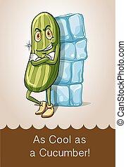 Idiom as cool as cucumber