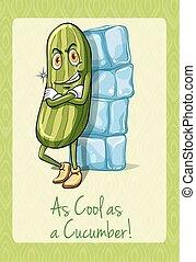 idiom, concombre, frais