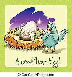 Idiom good nest egg