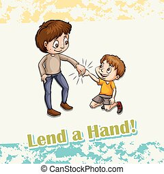 Idiom lend a hand