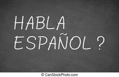 idioma español, aprendizaje, concepto, image.