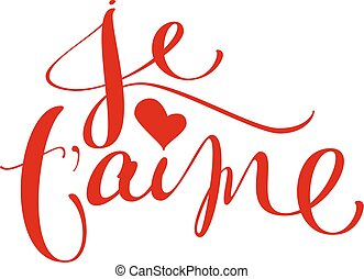 idioma, francés, t, aime, je, traducción