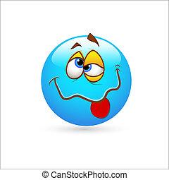 idiot, emoticons, vektor, smiley vetter