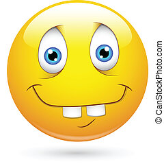 idiot, lustiges, smiley gesicht