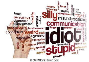 Idiot word cloud concept