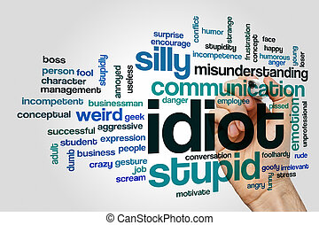 Idiot word cloud concept - Idiot word cloud