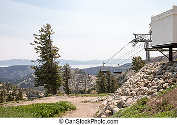 Idle Ski Lift in Summer