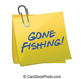 ido, concepto, pesca, post-it