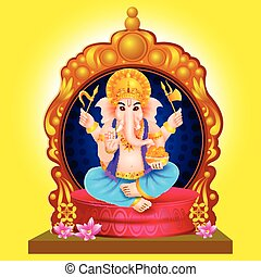 Idol of Lord Ganesha for Happy Ganesh Chaturthi