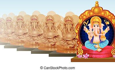 Idol of Lord Ganesha for Happy Ganesh Chaturthi
