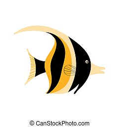 idole, maure, fish, fond blanc