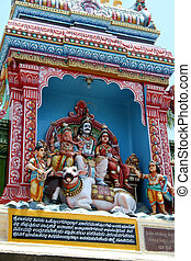 Ganesha, Shiva and Parvathi