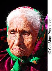 idoso, navajo, mulher