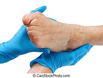 idoso, pés