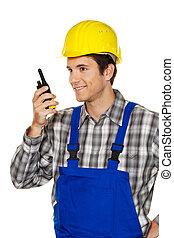 idraulica, costruzione, artigiani, -, lavorante
