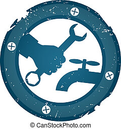 idraulica, riparazione, vettore
