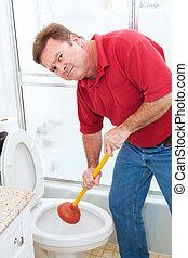 idraulica, sconcio, lavoro