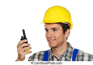 idraulico, costruzione, -, artigiani, giovane