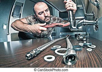 idraulico, lavoro