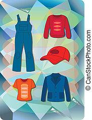 idraulico, moda, uomo, lavoratore, donna