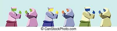idul, otro, bendición, padres, mubarak, plano de fondo, eid, selamat, aislado, idioma, pareja, raya, fitri, hari, feliz, azul, musulmán, indonesian.