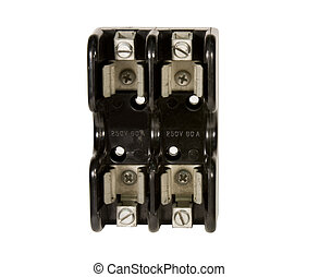 idustrial fuse block isolated - industrial fuse block holder...