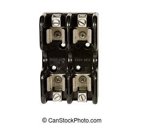 idustrial fuse block isolated - industrial fuse block holder...