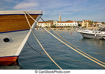 Idylic Turanj harbor and waterfront - Idylic village of ...