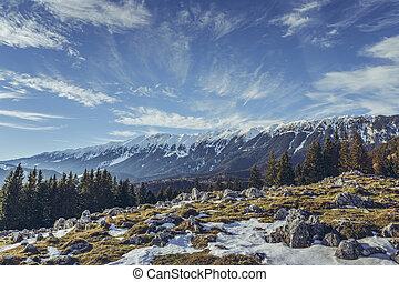 Zanoaga meadow, Piatra Craiului mountains, Romania