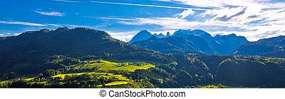 Idyllic austrian Alps panoramic view
