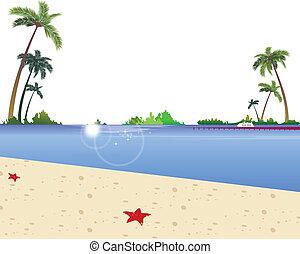 Idyllic Beach with jetty