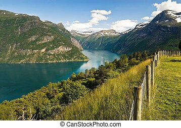Idyllic fjord in Norway