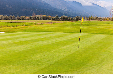 Idyllic golf course view
