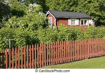 Idyllic green cottage