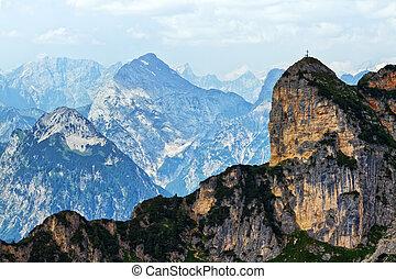 Idyllic high mountains landscape in the Rofan Range. Austria; Tirol.