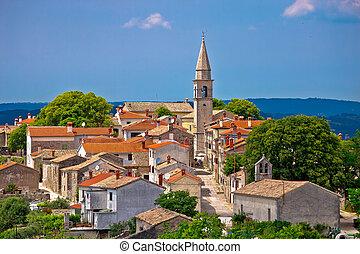 Idyllic hill town Of Draguc in Istria, Croatia