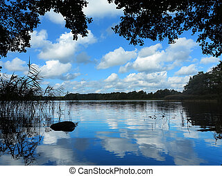 idyllic lake view
